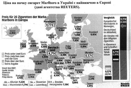 Ценовая политика на табачные изделия куплю марки от сигарет